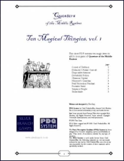 Role Playing Games - QMR - Ten Magical Thingies, vol. 1