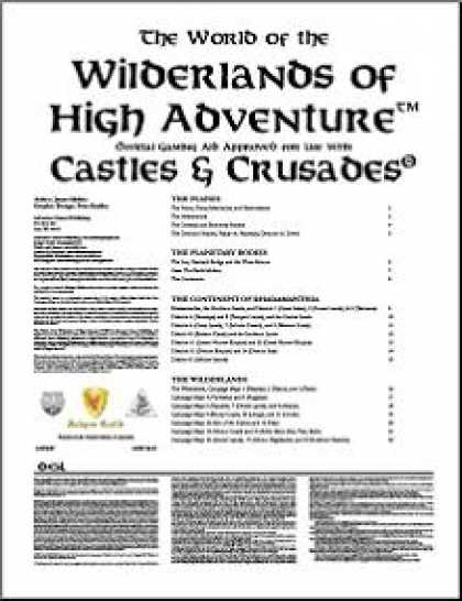 Role Playing Games - Wilderlands of High Adventure: World of the Wilderlands of High Adventure Guideb