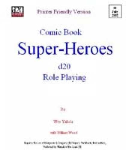 Role Playing Games - Comic Book Super Heroes RPG