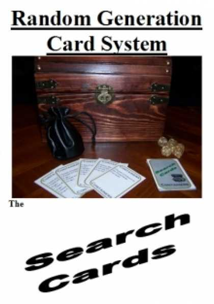 Role Playing Games - Random Generation Card System: The Search Cards