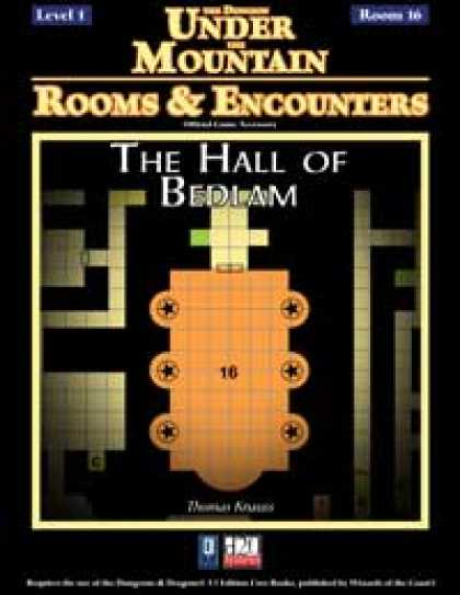 Role Playing Games - Rooms & Encounters: The Hall of Bedlam