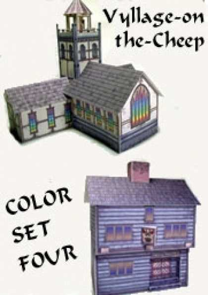 Role Playing Games - Vyllage-on-the-Cheep COLOR Buildings Set #4