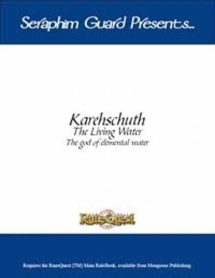 Role Playing Games - Karehschuth The Living Water (Runequest)