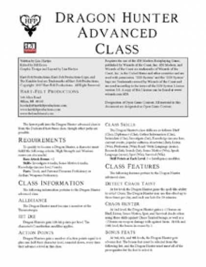Role Playing Games - Dragon Hunter Advanced Class