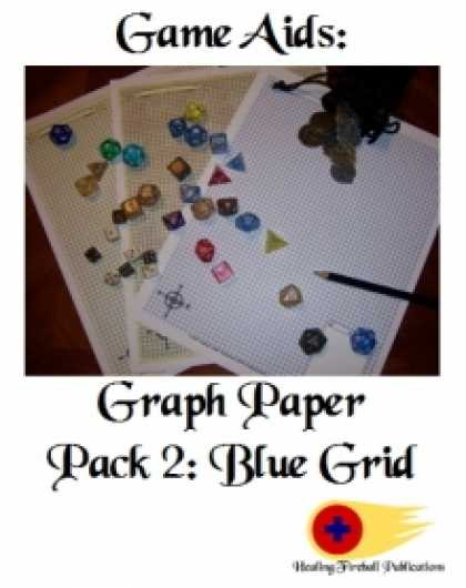 Role Playing Games - Graph Paper Pack 2: Blue Grid