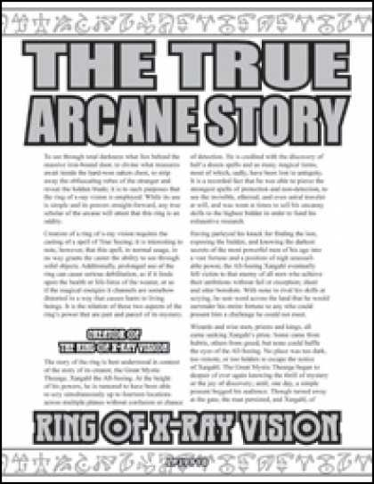 Role Playing Games - The True Arcane Story: Ring of X-Ray Vision