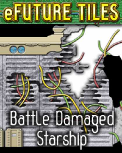 Role Playing Games - e-Future Tiles: Battle Damaged Starship