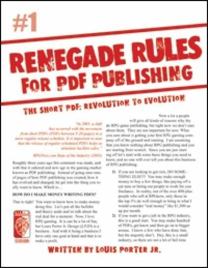 Role Playing Games - Renegade Rules for PDF Publishing: #1 - The Short PDF: Revolution to Evolution