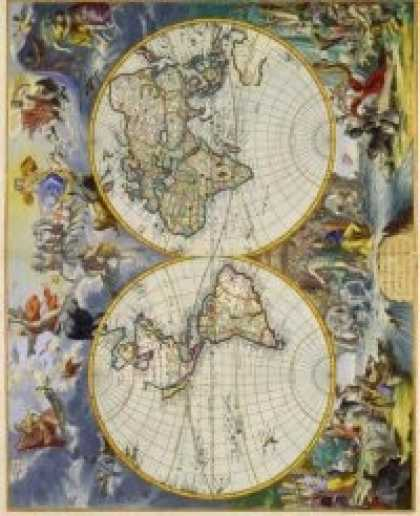 Role Playing Games - Antique Maps I - The World of the 1600's