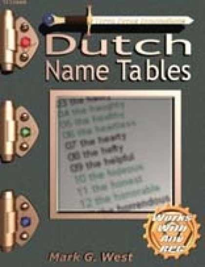 Role Playing Games - Dutch Name Tables