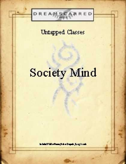 Role Playing Games - Untapped Classes: Society Mind