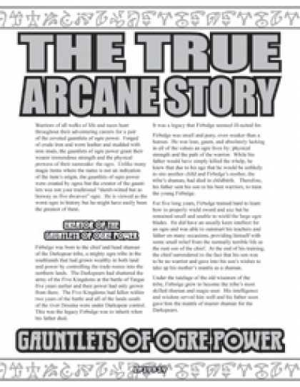 Role Playing Games - The True Arcane Story: Gauntlets of Ogre Power
