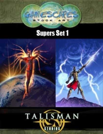 Role Playing Games - Gamescapes: Stock Art, Super Powers Set 1