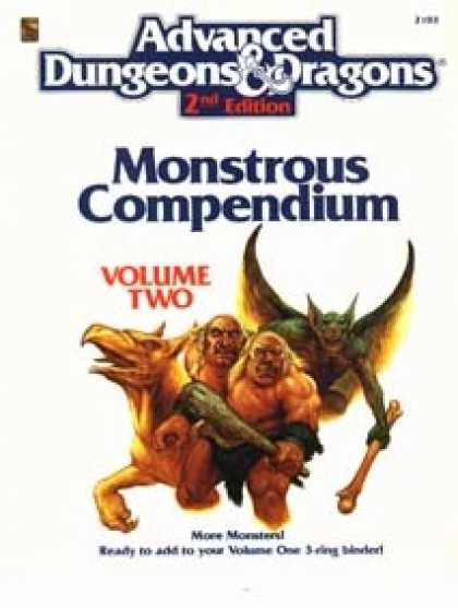 Role Playing Games - Monstrous Compendium, Vol. 2