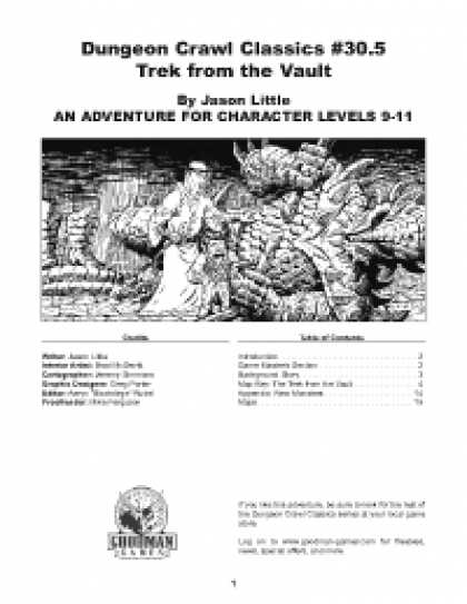 Role Playing Games - Dungeon Crawl Classics #30.5: Trek From The Vault