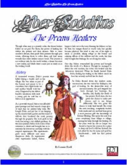 Role Playing Games - Liber Sodalitas: The Dream Healers