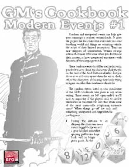 Role Playing Games - GM'S COOKBOOK: Modern Events #1