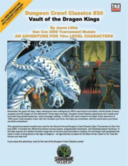 Role Playing Games - Dungeon Crawl Classics #30: Vault of the Dragon Kings