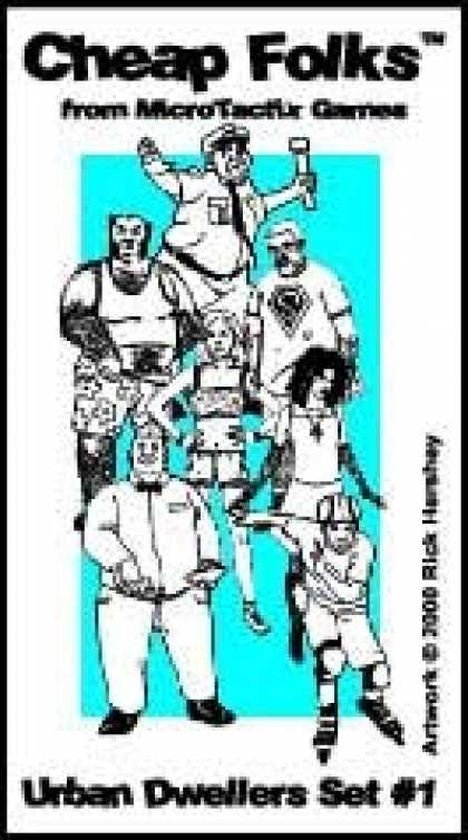 Role Playing Games - Cheepsville USA Urban Dwellers Cardstock Figures