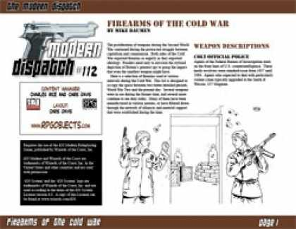 Role Playing Games - Modern Dispatch (#112): Firearms of the Cold War
