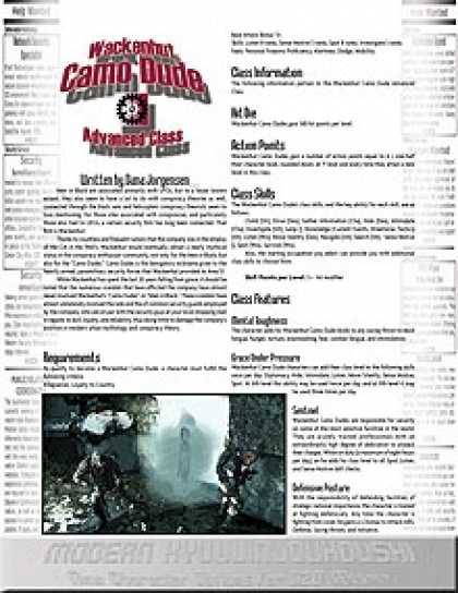 Role Playing Games - Modern Kyuujinjouhoushi: Wackenhut Camo Dude
