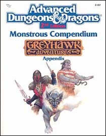 Role Playing Games - Monstrous Compendium - Greyhawk Appendix