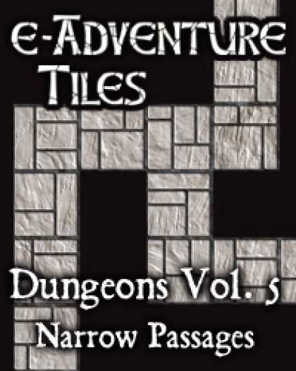 Role Playing Games - e-Adventure Tiles: Dungeons Vol. 5 - Narrow Passages