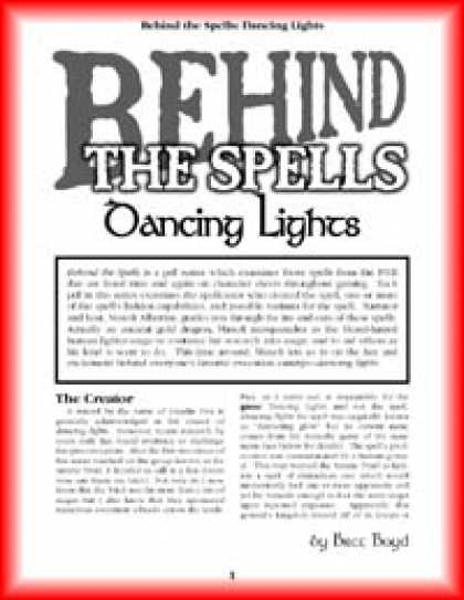 Role Playing Games - Behind the Spells: Dancing Lights