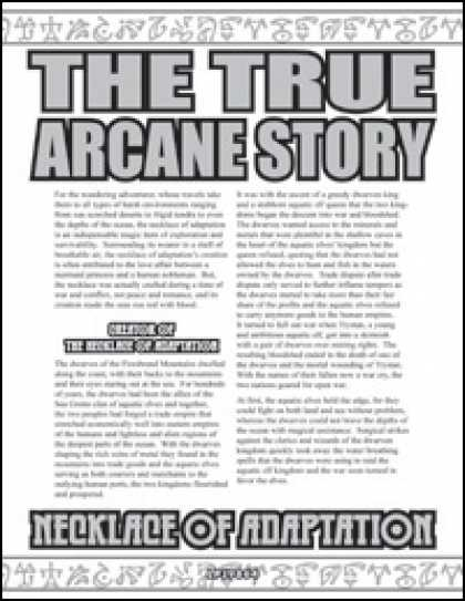 Role Playing Games - The True Arcane Story: Necklace of Adaptation