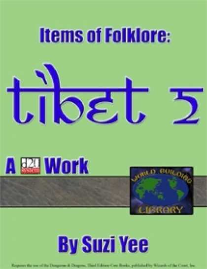 Role Playing Games - World Building Library: Items of Folklore: Tibet II