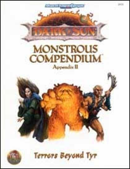 Role Playing Games - Monstrous Compendium - Dark Sun Appendix II