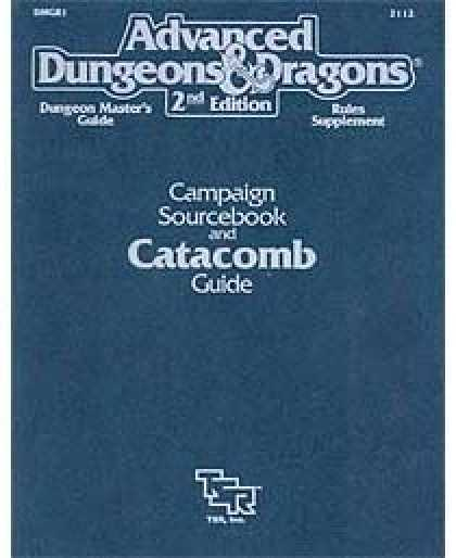 Role Playing Games - Campaign Sourcebook and Catacomb Guide