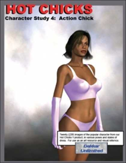 Role Playing Games - Hot Chicks Character Sketches 4: Action Chick