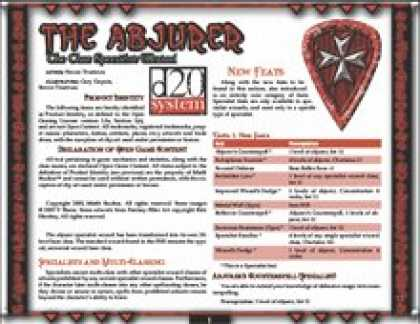 Role Playing Games - The Abjurer: The Core Specialist Wizard