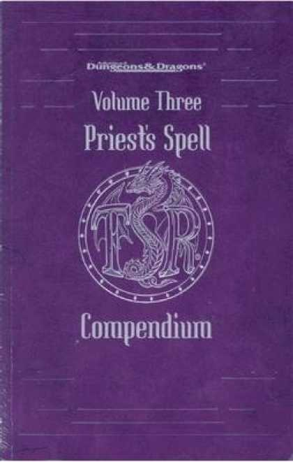 Role Playing Games - Priest's Spell Compendium: Volume Three