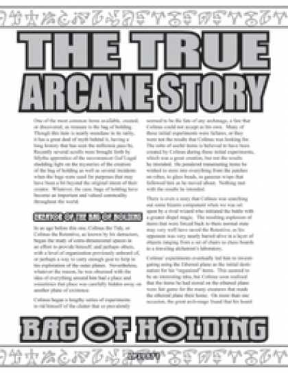 Role Playing Games - The True Arcane Story: Bag of Holding