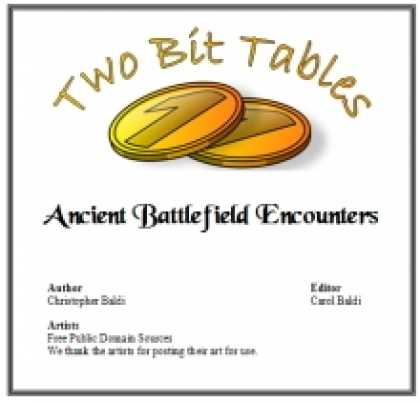 Role Playing Games - Two Bit Tables: Ancient Battlefield Encounters