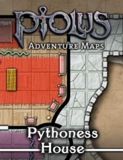 Role Playing Games - Ptolus Adventure Maps: Pythoness House