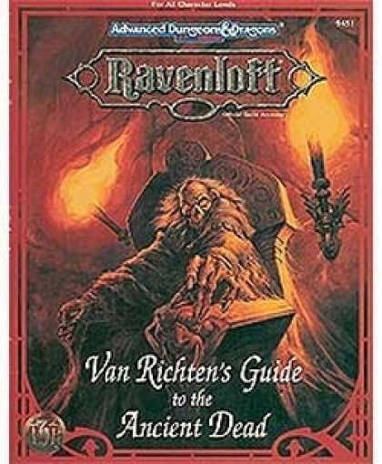 Role Playing Games - Van Richten's Guide to the Ancient Dead