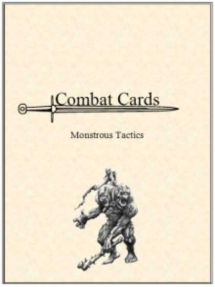Role Playing Games - Combat Cards: Monstrous Tactics