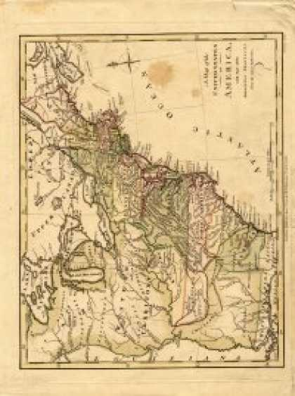 Role Playing Games - Antique Maps XXI - The United States of the 1700's