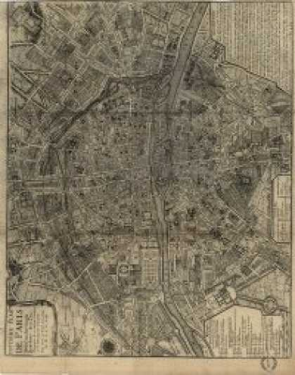 Role Playing Games - Antique Maps XXIV - Paris of the 1700's