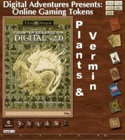 Role Playing Games - Online Gaming Tokens Pack #10: Plants & Vermin
