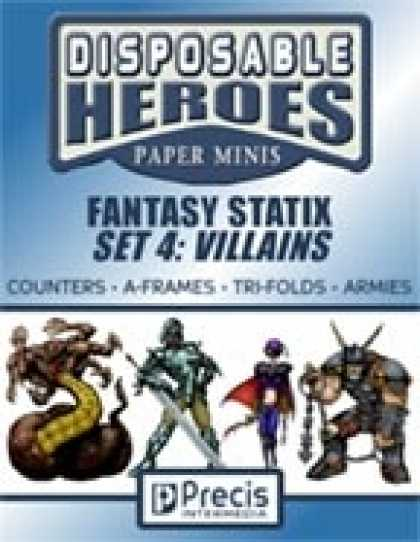 Role Playing Games - Disposable Heroes Fantasy Statix 4: Villains