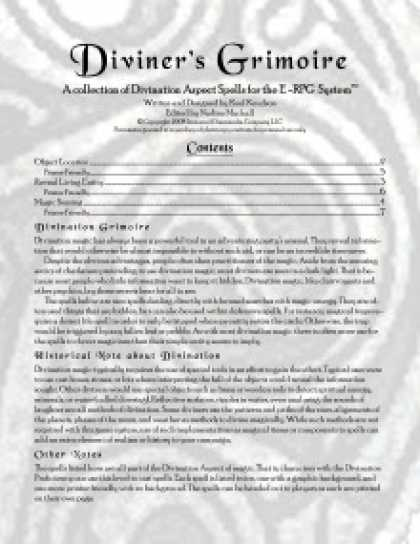 Role Playing Games - Diviner's Grimoire