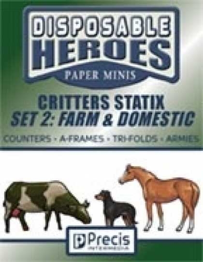 Role Playing Games - Disposable Heroes Critters Statix 2: Farm & Domestic