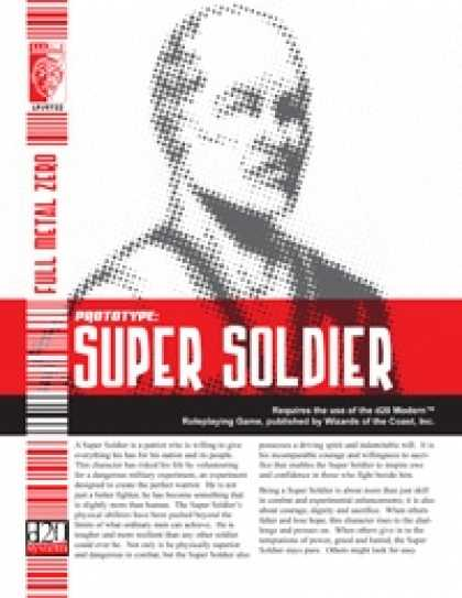 Role Playing Games - Prototype: Super Soldier