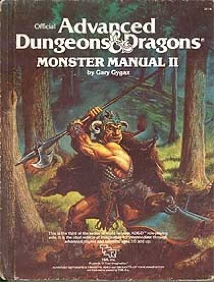 Role Playing Games - 1st Edition AD&D Monster Manual II