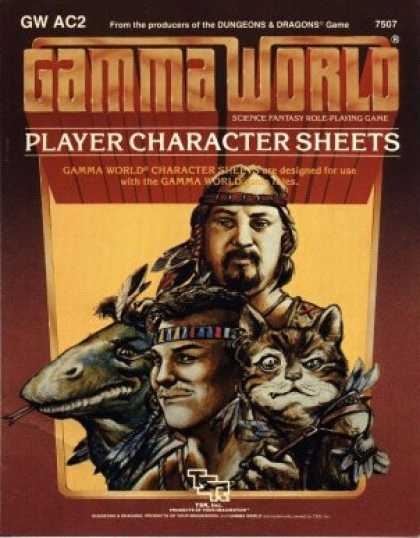 Role Playing Games - Gamma World PC Record Sheets
