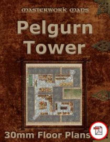 Role Playing Games - Pelgurn Tower Floor Plans (30mm square grid)